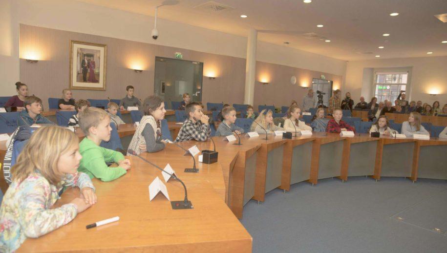 De Kinderraad vergaderde donderdag voor het eerst.