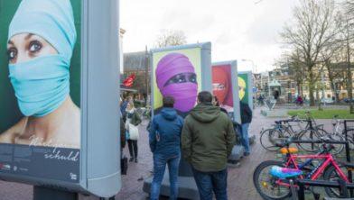 Fototentoonstelling aan de Westerkade.