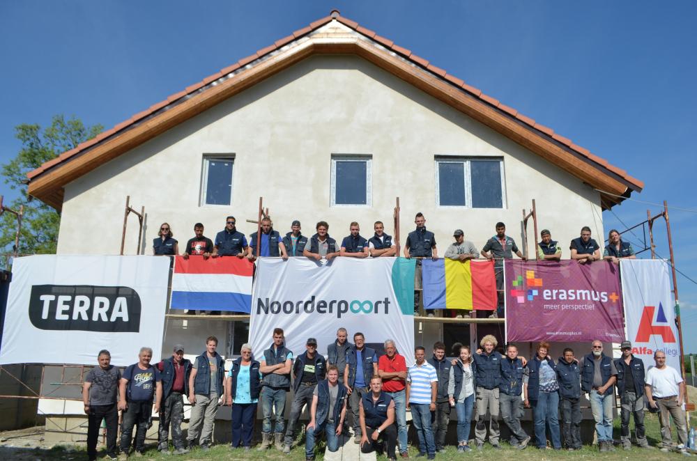 Studenten Noorderpoort, Alfa-college en Terra MBO laatste keer naar Roemenië