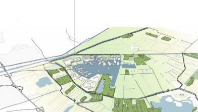 Impressie: De Zeilen wordt gebouwd in het noordwesten van Meerstad.