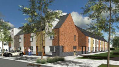 Bouw sociale huurwoningen in Paddepoel door Nijestee.