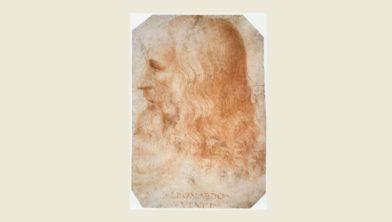 Toegeschreven aan Francesco Melzi (1491-1568), Portret van Leonardo, na 1510, rood krijt op papier, 27,5 x 19 cm.