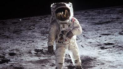 De eerste man op de maan.