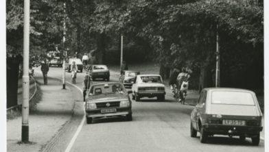 De Leliesingel in het Noorderplantsoen in 1985.