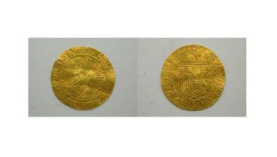 Gouden dubloen geslagen in Culemborg, 1590.