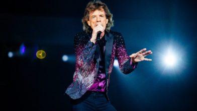 Frontman Mick Jagger tijdens The Rolling Stones concert in 2017.