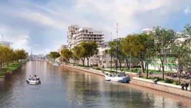 Impressie Stadhavens langs Eemskanaal