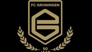 Het jubileumlogo is ontworpen door FC-supporter Thijs van den Broek.