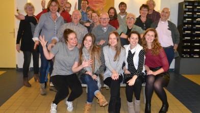Een eerdere groepsfoto bij de voorstelling Tartuffe.