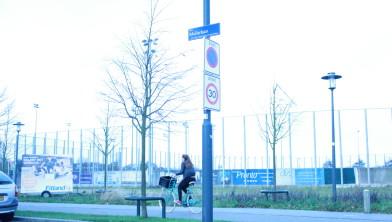 Stukje braak terrein op het Pim Muliersportpark, naast de honkbalvelden.