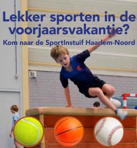 Poster van de sportinstuif.