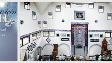 Interieur van de moskee.