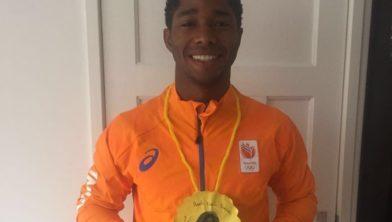 Elmont thuis met de gouden medaille.