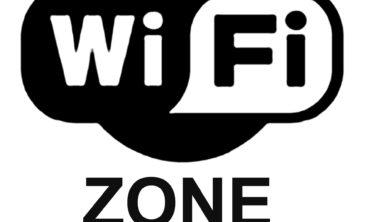 Het teken van een wifi-zone.