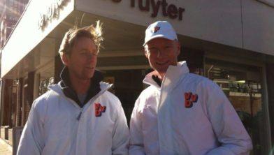 Rutten (rechts) met Rob de Jong.