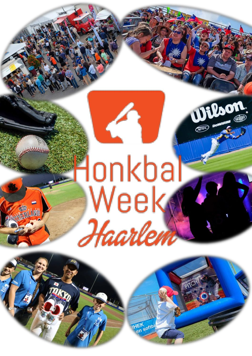Collage van de Honkbalweek.