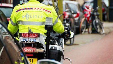 Motoragent van de politie Haarlem.