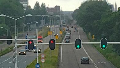 De oude hoofdingang van Haarlem. De Amsterdamse Vaart.