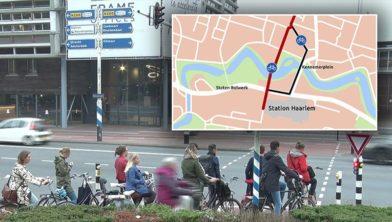 Een fietspad recht door de Bolwerken.