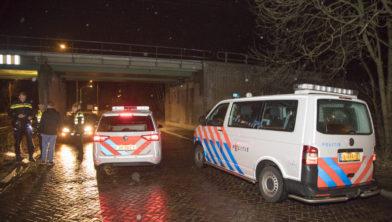 Meerdere auto's van de politie waren betrokken bij de achtervolging.