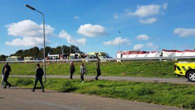 Twee doden bij een kettingbotsing in Halfweg.