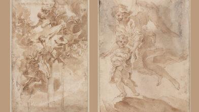 Allegorie op het Heilige Bloed van Christus en Een kind met een beschermengel