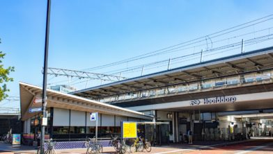 Fietsen op station Hoofddorp.