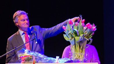Bernt Schneiders bij zijn afscheid in Haarlem.