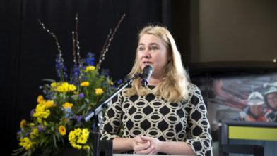Melanie Schultz van Haegen bij de heropening.