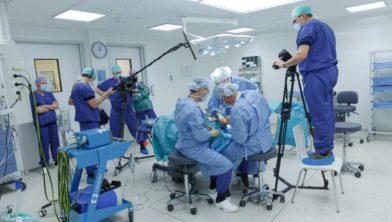 Opname van een video tijdens een operatie.