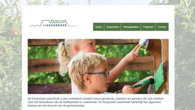 Screenshot van de nieuwe website