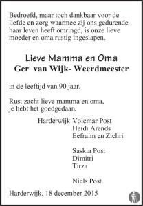Ger van Wijk-Weerdmeeester Mensenlinq