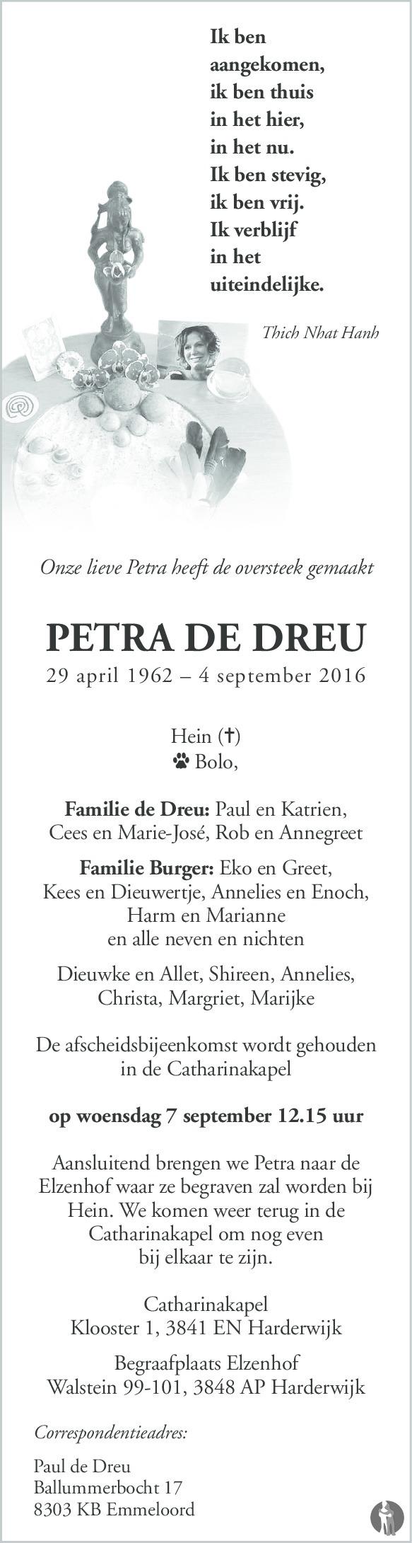 Petra de Dreu