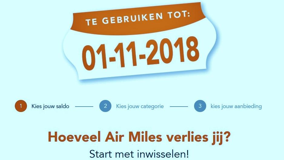 verlopen oude Air Miles