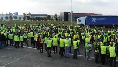 'Gele Hesjes'protest in Vesoul (Frankrijk), archieffoto.