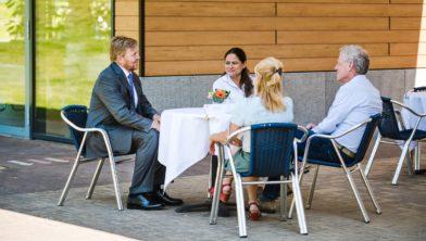 Koning Willem-Alexander bij Adelante, 19 mei 2020.