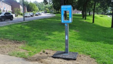 De nieuwe WML watertap aan de Versiliënbosweg.
