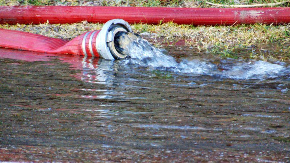 Waterleiding gesprongen bij vakantiepark