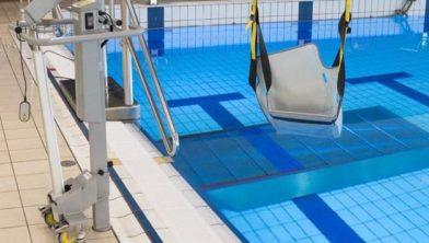Impressie zwembadtillift