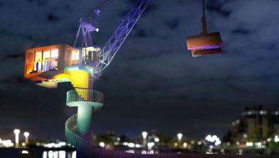 3D Bossche Kraan bij nacht