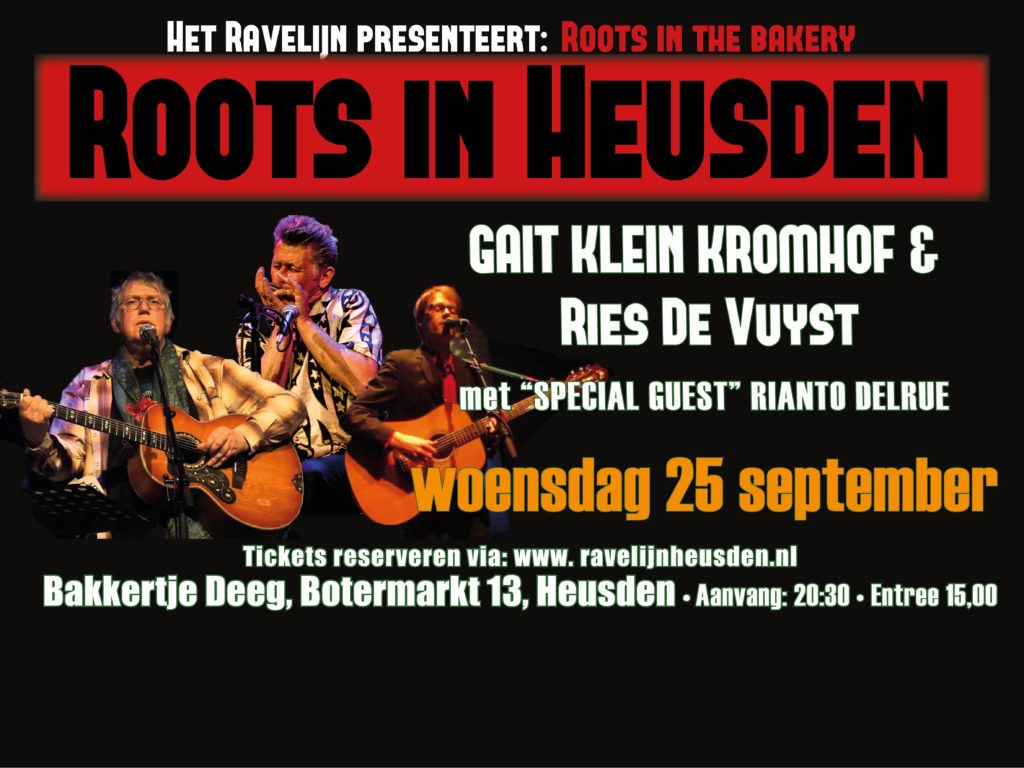 Roots in the Bakery op 25 september
