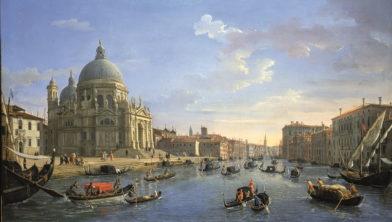 Caspar van Wittel, Venice Canal Grande met Santa Maria della Salute, 73 x 124,5 cm, Collection Colonna