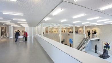 Interieur van het Rietveldpaviljoen aan de Zonnehof.