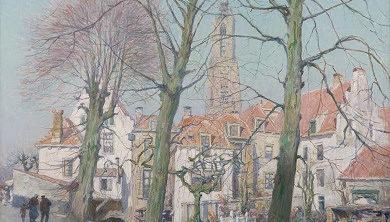 H.J. Wolter, Gezicht op Amersfoort (collectie Museum Flehite)