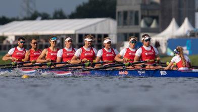 De Holland 8 tijdens de 2019 World Rowing Cup III in Rotterdam