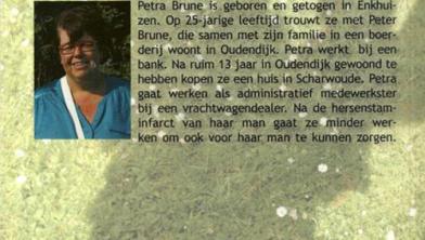 Hersenstaminfarct is een keerpunt in levensgeluk, volgens Petra Brune.