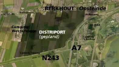 Kaart Distriport-locatie.