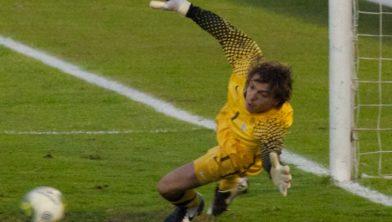 Tim Krul was op het WK in Brazilie 2014 nog succesvol in aktie tegen Uruguay bij de penaltyserie.