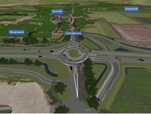 Toekomstige situatie kruising N507 Spierdijkerweg