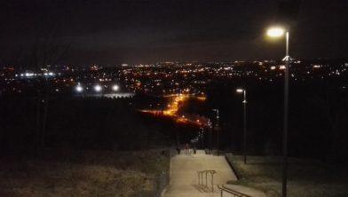 Trap Wilhelminaberg verlicht in de avonduren - Landgraaf